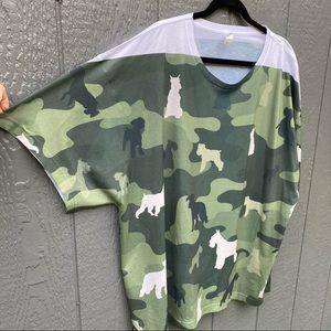 Sublivie Dog Camo T-Shirt 2XL L.A.T Apparel